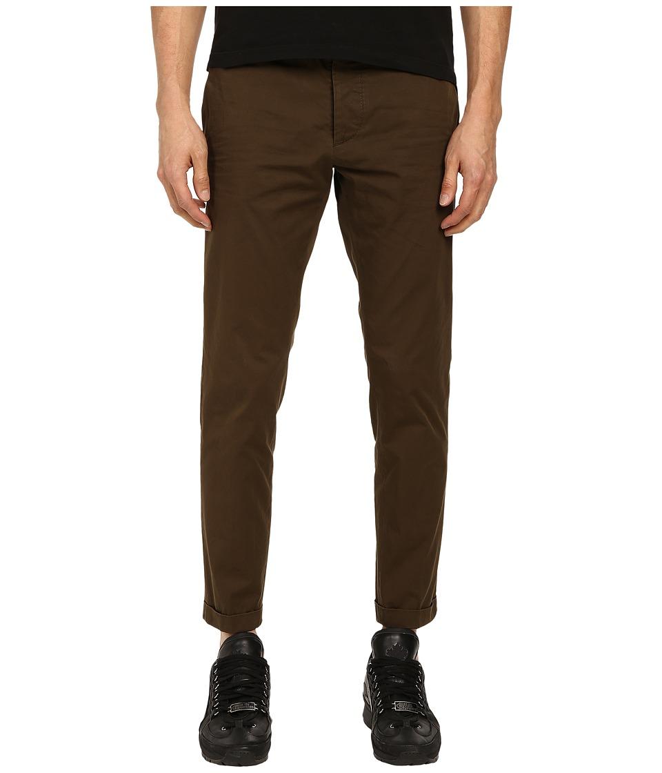 DSQUARED2 - Tokyo Light Cotton Pants (Mud) Men's Casual Pants