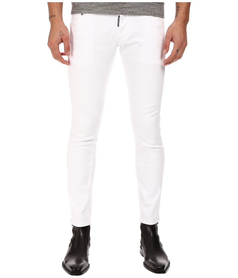 DSQUARED2 - Clement Stretch Cotton Denim in White (White) Men's Jeans