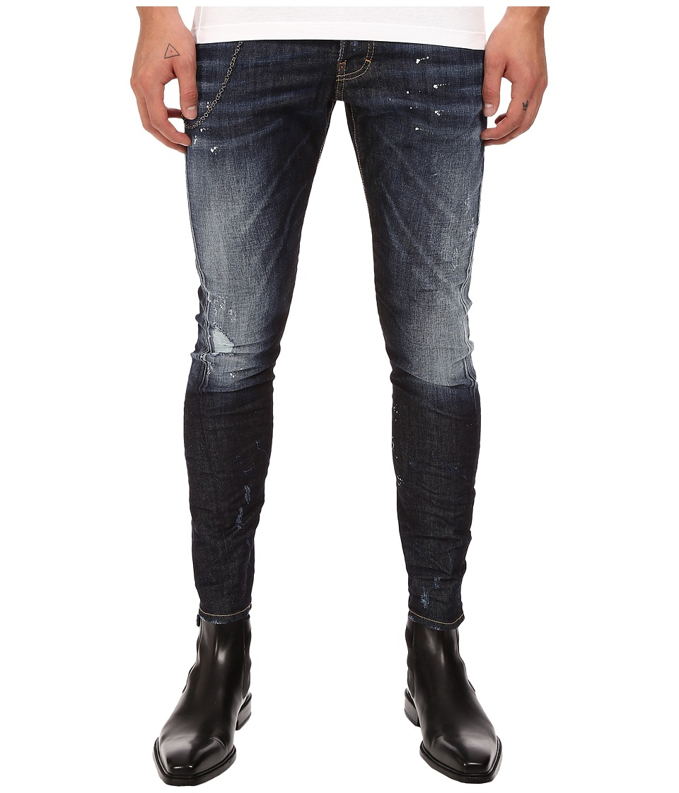 DSQUARED2 - Sexy Twist Stretch Every Day Denim in Blue (Blue) Men's Jeans