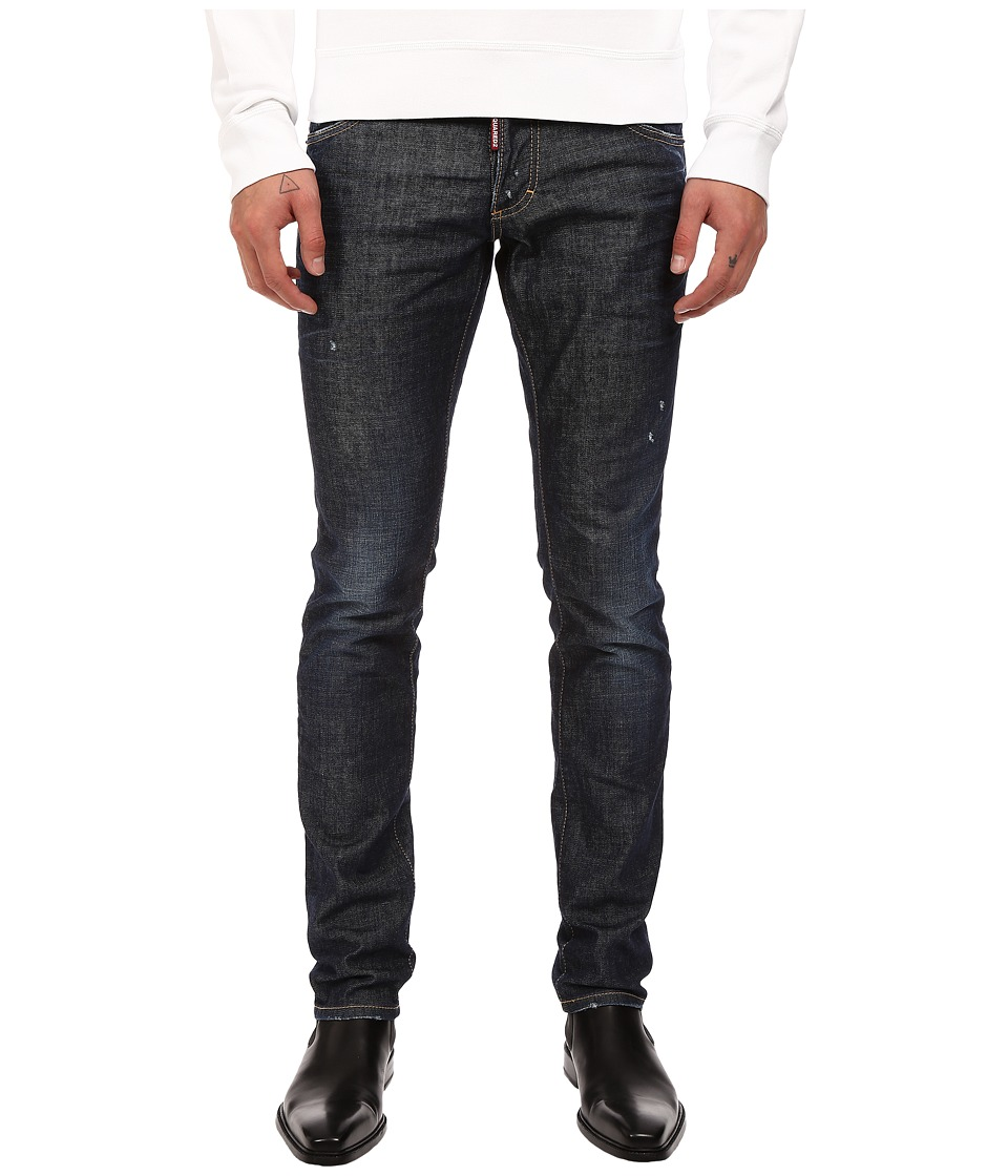 DSQUARED2 - Slim Stretch Dark Easy Denim in Blue (Blue) Men's Jeans