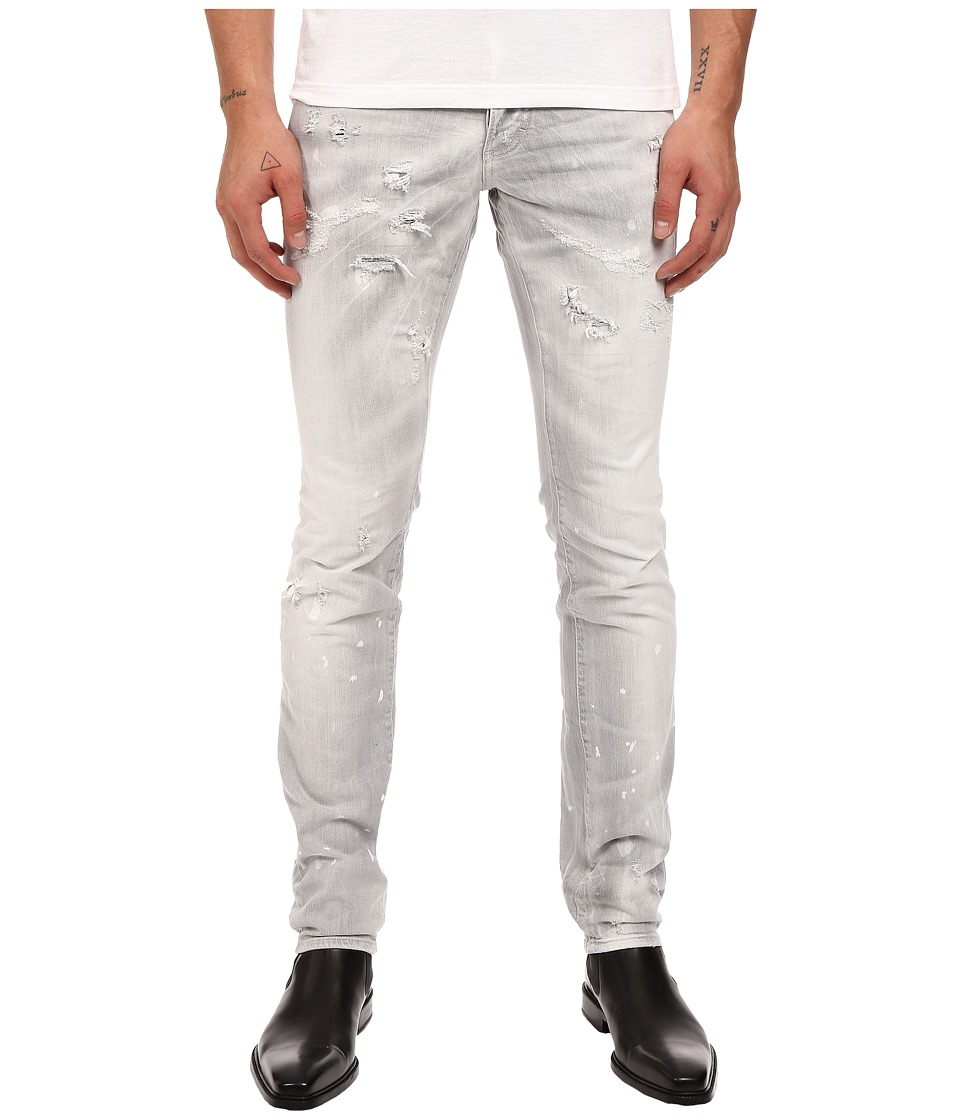 DSQUARED2 - Slim Stretch Dark Techno Japan Denim in Grey (Grey) Men's Jeans