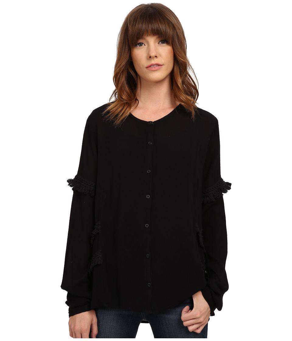 Volcom - Haute Love Top (Black) Women's Clothing