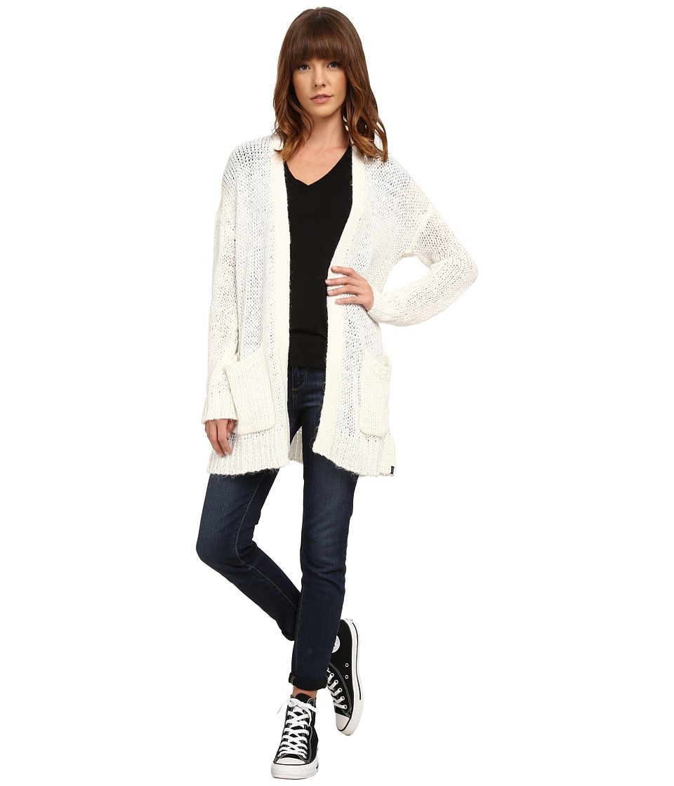 Volcom - Eight Track Cardigan (Bone) Women's Sweater