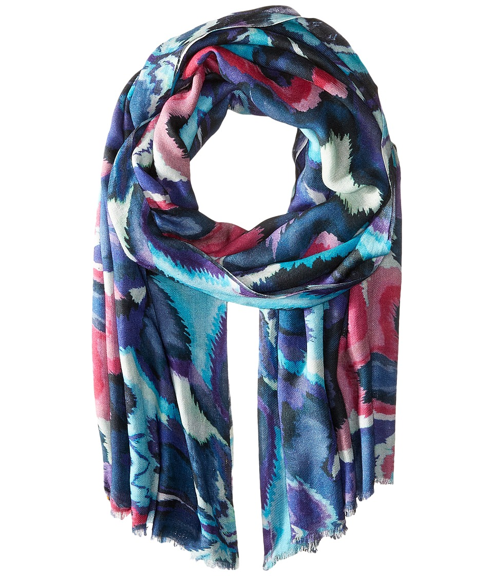 Bindya - Sierra Cashmere/Silk Wrap (Blue) Scarves
