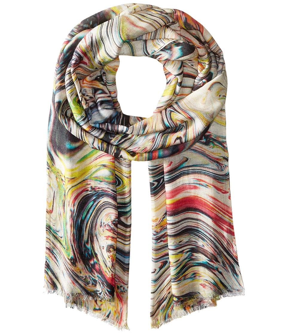 Bindya - Stole Ink Print Cashmere/Silk Wrap (Original) Scarves
