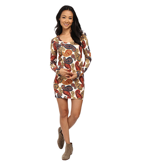 Volcom - Quilted Mind Dress (Bone) Women's Dress