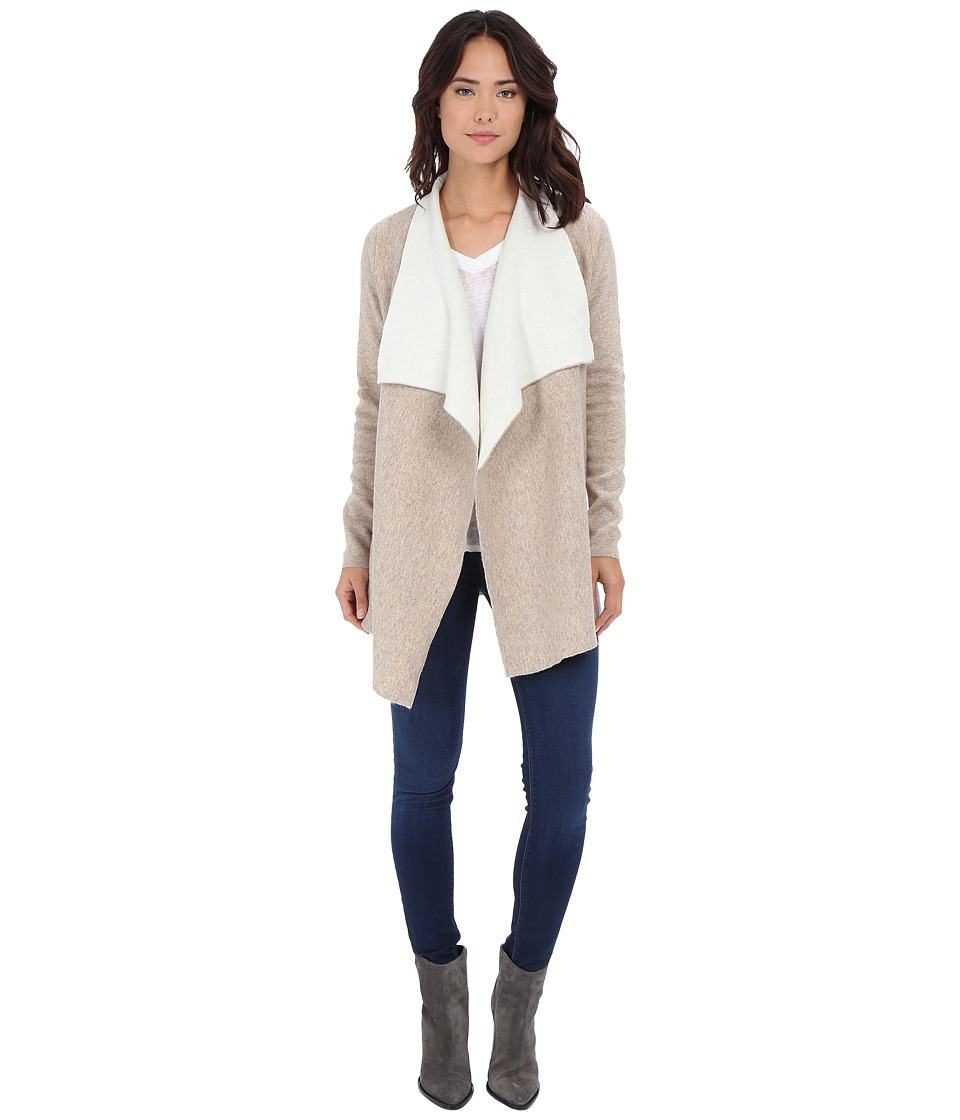 Culture Phit - Tamara Double Faced Cardigan (Tan/Ivory) Women's Sweater