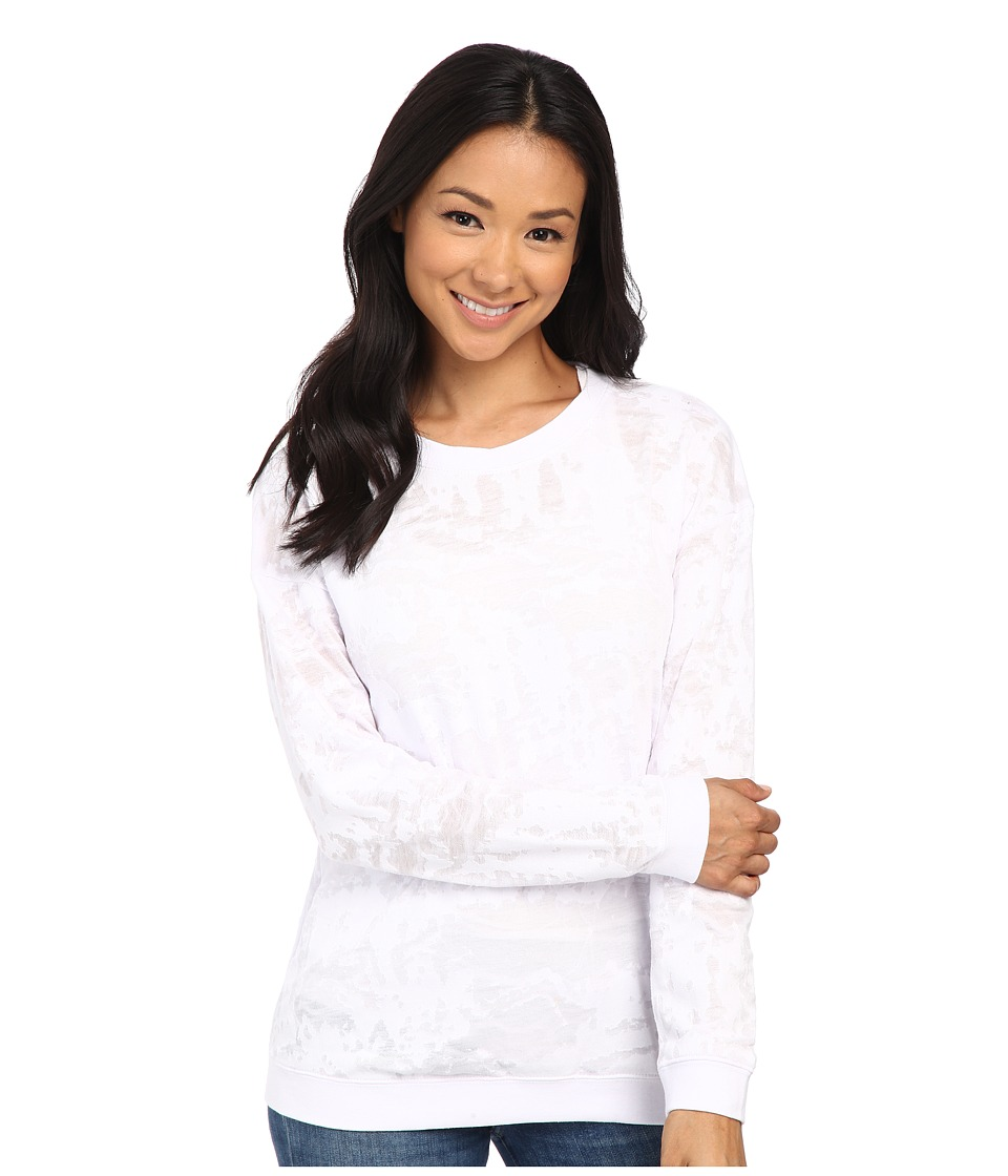Volcom - Corrupt Muse Pullover (White) Women's Clothing