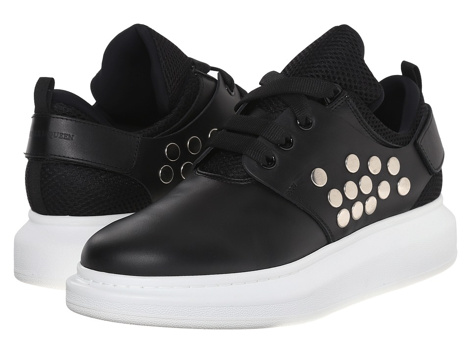 Alexander McQueen - Metal Disc Platform Sneaker (Black) Men's Shoes