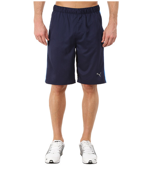 PUMA - Active Stretch 10 Shorts (Peacoat/Strong Blue) Men