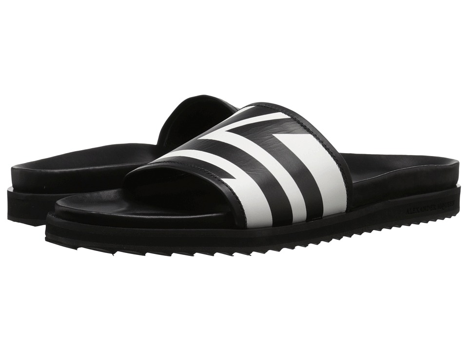 Alexander McQueen - Slip-On Sandal (Black) Men's Sandals