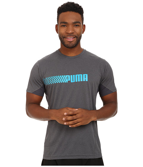 PUMA - PT At Cool Short Sleeve Graphic Tee (Iron Grey Heather) Men
