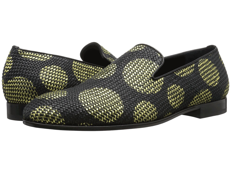 Alexander McQueen - Large Dot Slipper (Black/Gold) Men's Slip on Shoes