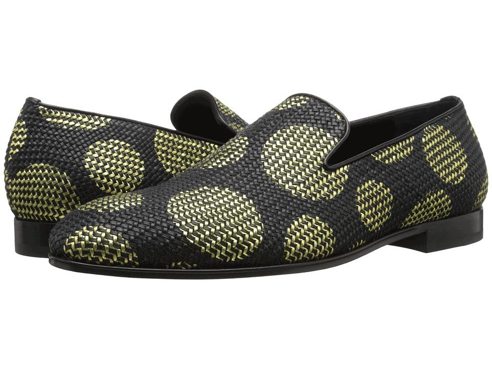 Alexander McQueen Large Dot Slipper Black-Gold Mens Slip on Shoes
