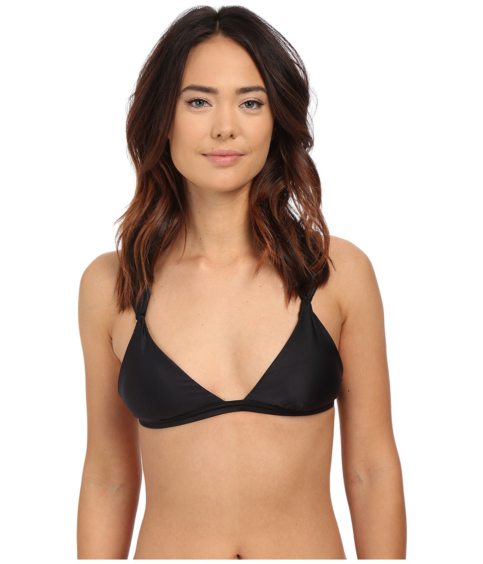 Vix - Matelasse Loop Top (Solid Black) Women's Swimwear