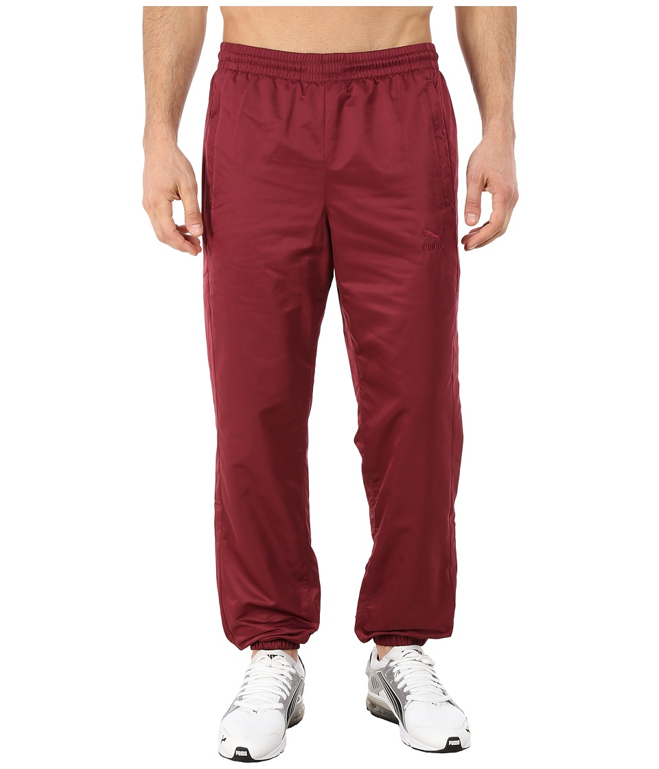 PUMA - Vashtie Track Pants (Burgundy) Men