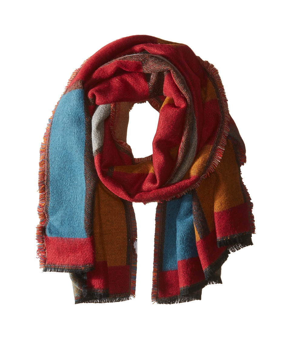Bindya - Betty Blanket Wrap (Red Multi) Scarves