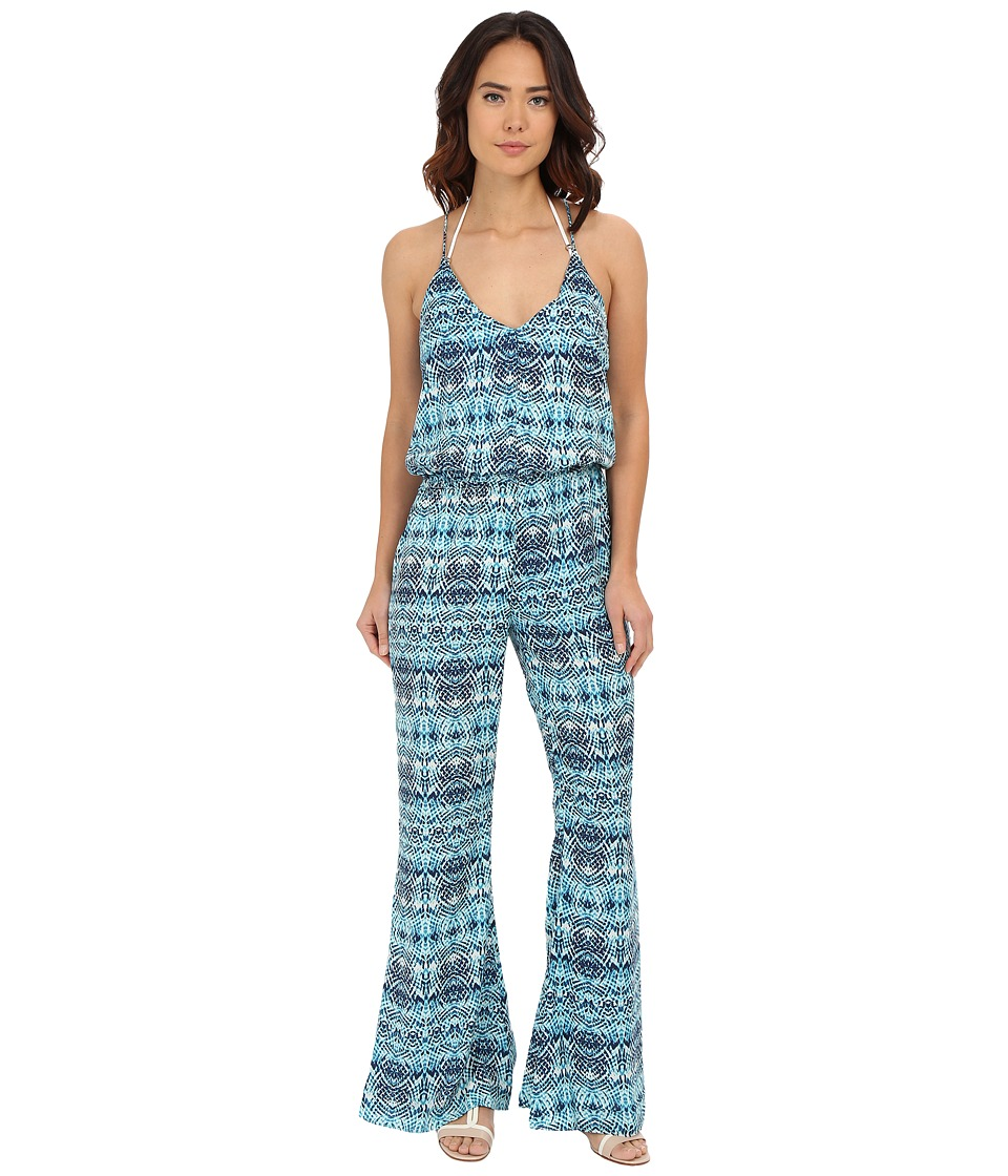 Vix - Sofia by Vix Laguna Gloria Jumpsuit Cover-Up (Laguna) Women's Jumpsuit & Rompers One Piece
