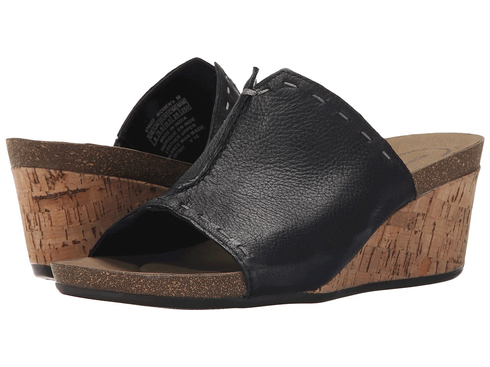 Rockport - Total Motion Taja Slide (Black Embossed Nubuck) Women's Wedge Shoes
