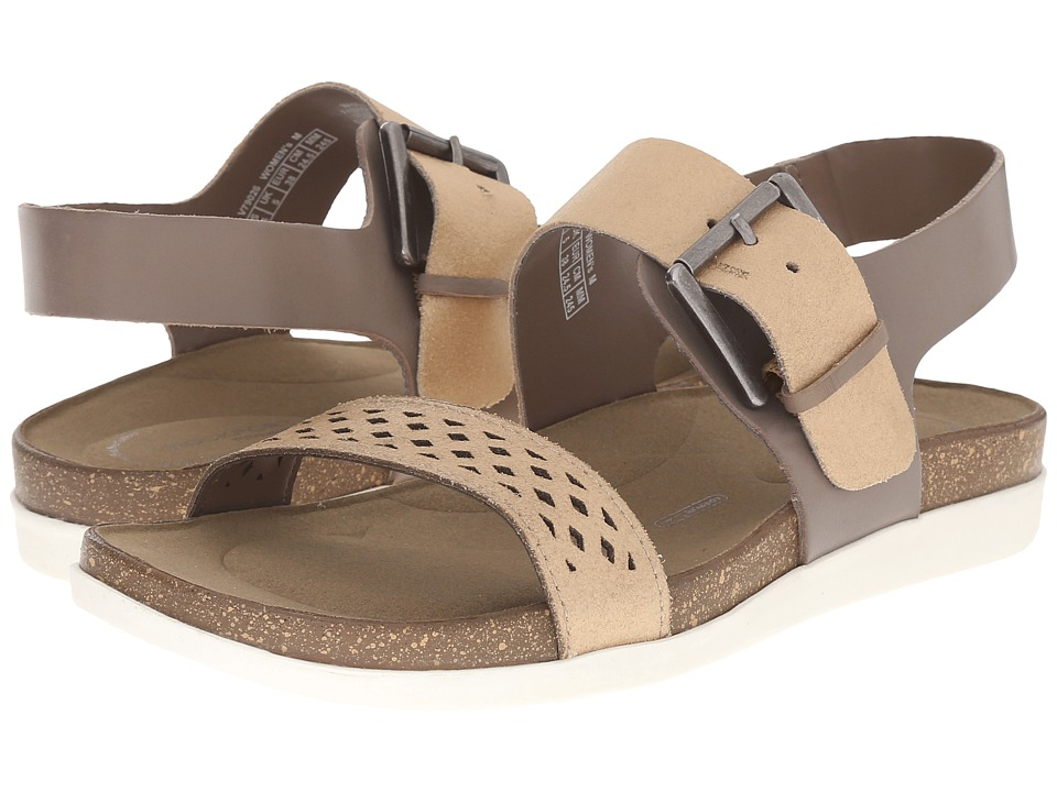 Rockport Total Motion Romilly Buckled Sandal (Medium Grey Smooth/Pearl) Women