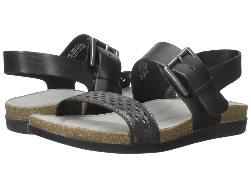 Rockport - Total Motion Romilly Buckled Sandal (Black Smooth) Women's Sandals