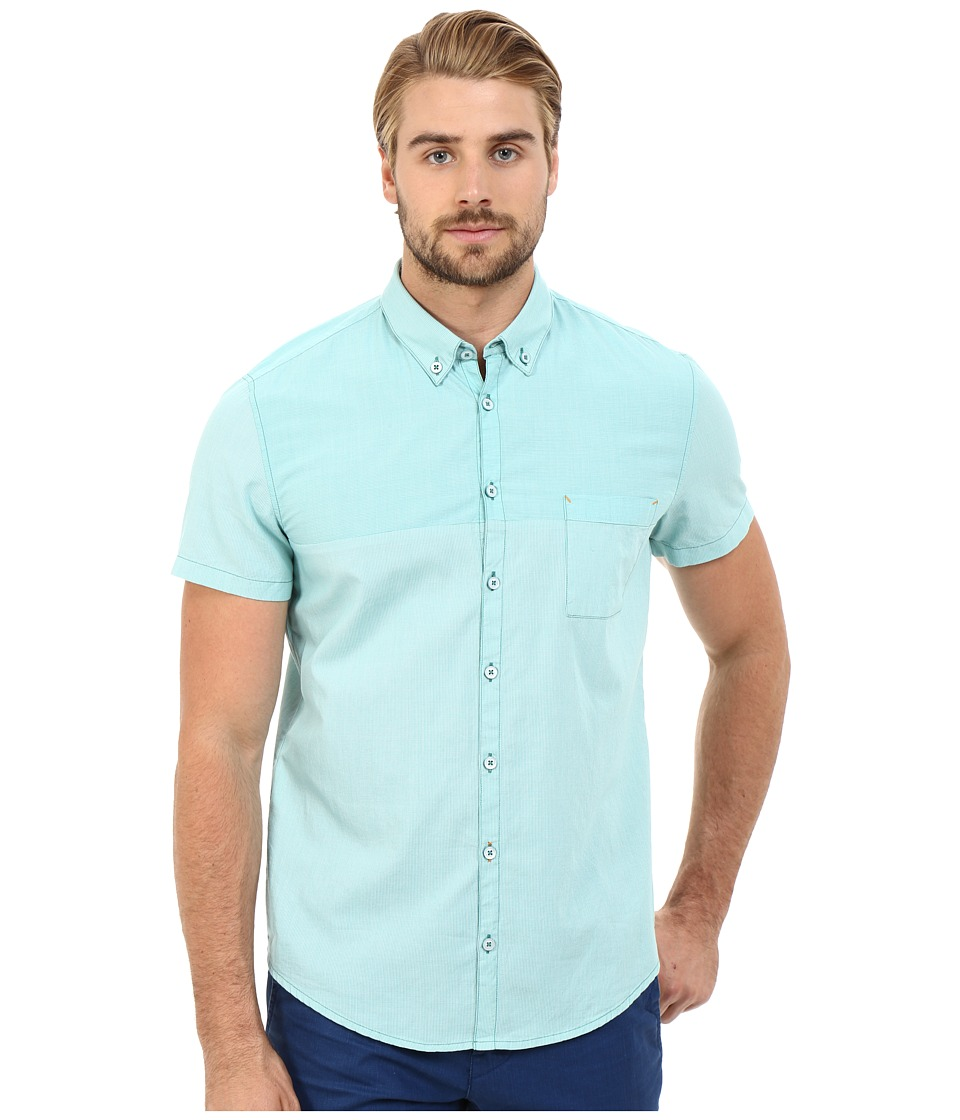 BOSS Orange - ErollesE Button Down Shirt 10187168 01 (Medium Green) Men's Short Sleeve Button Up
