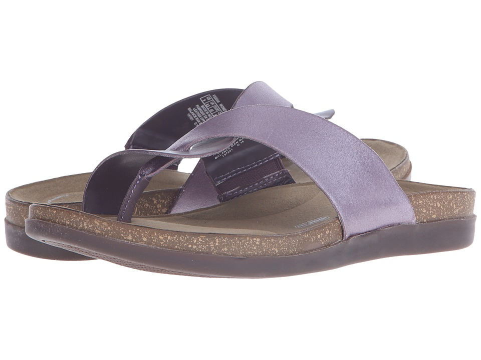 Rockport - Total Motion Romilly Curvy Thong (Sparrow Smooth/Silver Pearl) Women's Sandals