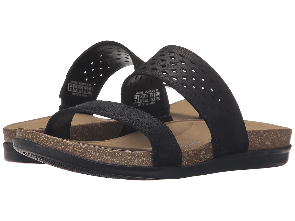 Rockport - Total Motion Romilly Slide (Black Cas Suede) Women's Sandals