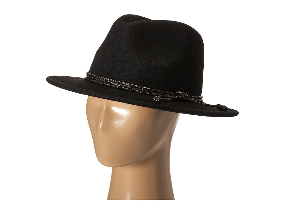 Gabriella Rocha - Maxine Wool Felt Panama Hat with Braided Band (Black) Fedora Hats