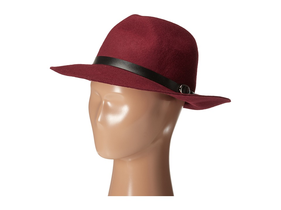 Gabriella Rocha - Heidi Felt Hat with Belt (Burgundy) Caps
