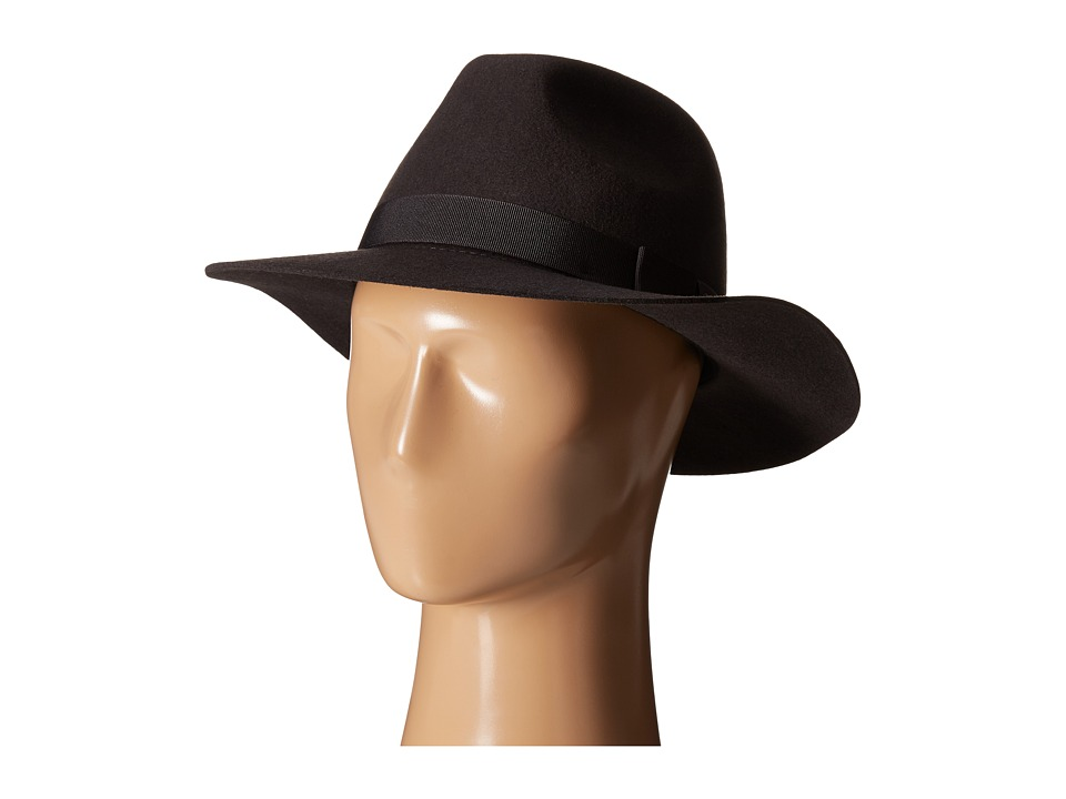 Brixton - Indiana Fedora (Washed Black) Fedora Hats