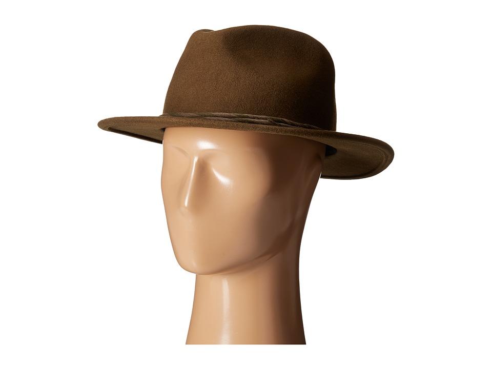 Brixton - Corbet Fedora (Light Olive) Fedora Hats