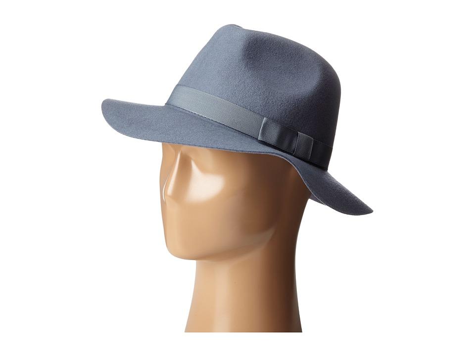 Brixton - Indiana Fedora (Flint Grey) Fedora Hats