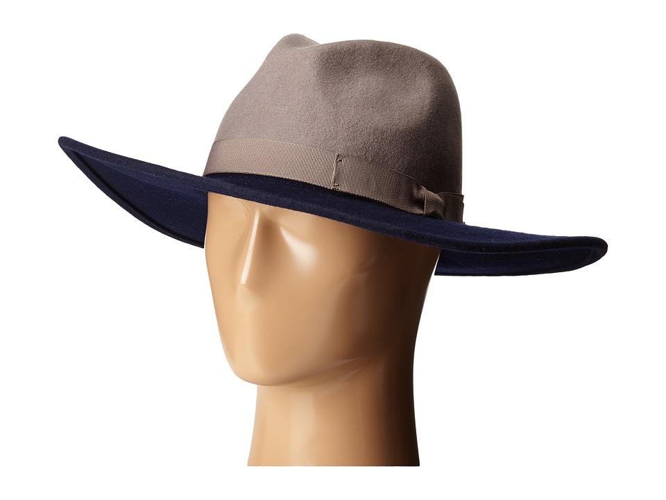 Brixton - Chloe Fedora (Navy/Grey) Fedora Hats