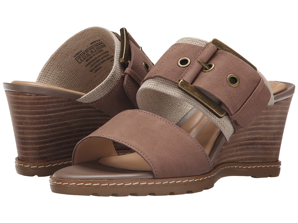 Rockport - Garden Court Buckled Slide (Medium Grey Embossed Nubuck) Women's Wedge Shoes