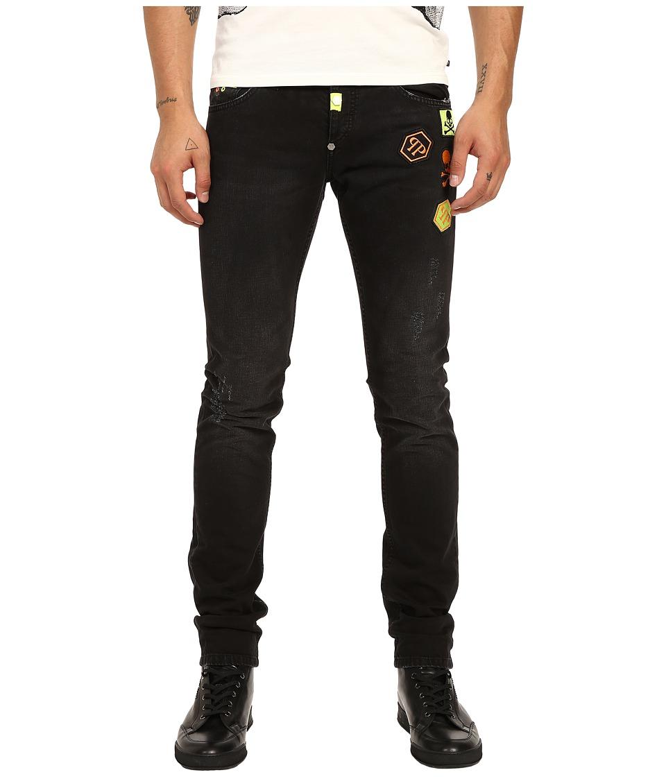 Philipp Plein - Fierce Straight Cut Denim in Black Friday (Black Friday) Men's Jeans
