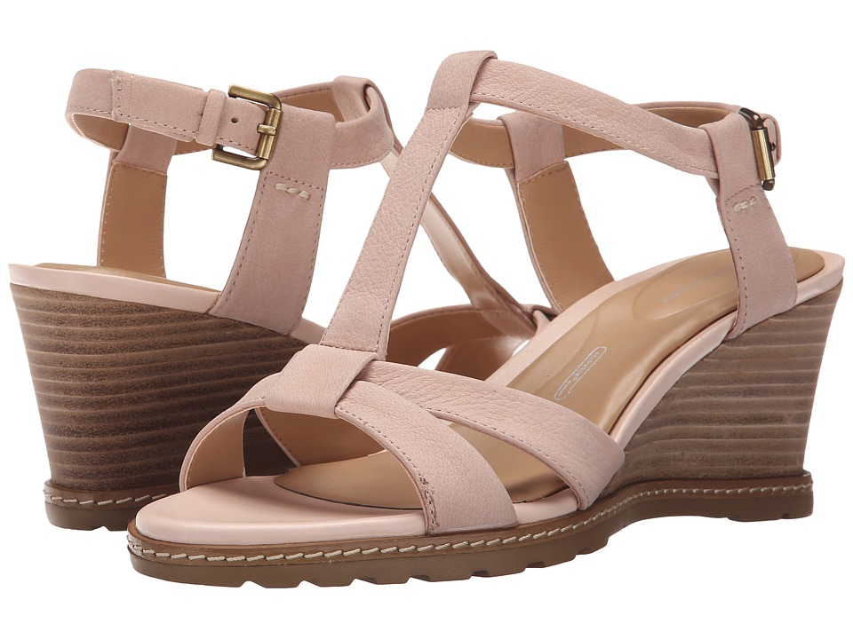 Rockport - Garden Court T-Strap (Rich Cloud Goat Tumble Nubuck) Women's Sandals