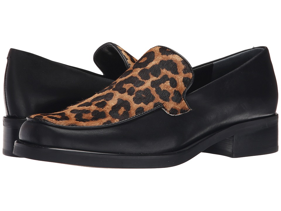 Franco Sarto - Bocca 2 (Black/Camel Leopard) Women's Slip-on Dress Shoes