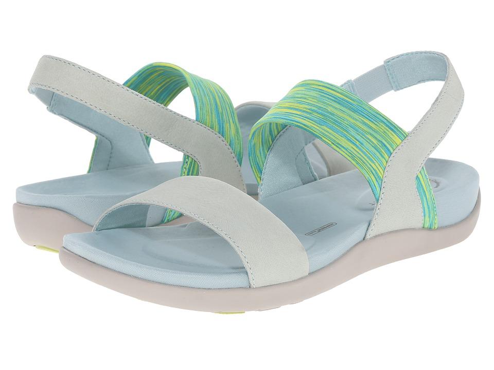 Rockport - truWALKzero III Stretch 2 Band Sandal (Blue Haze Embossed Nubuck) Women's Sling Back Shoes