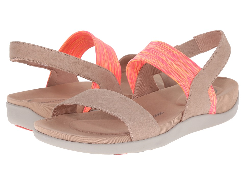 Rockport - truWALKzero III Stretch 2 Band Sandal (Warm Taupe Embossed Nubuck) Women's Sling Back Shoes