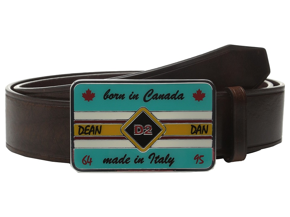 DSQUARED2 - Born in Canada Belt (Brown) Men's Belts