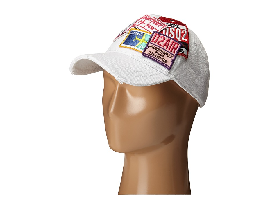 DSQUARED2 - D2 Airlines Passport Cap (White) Caps