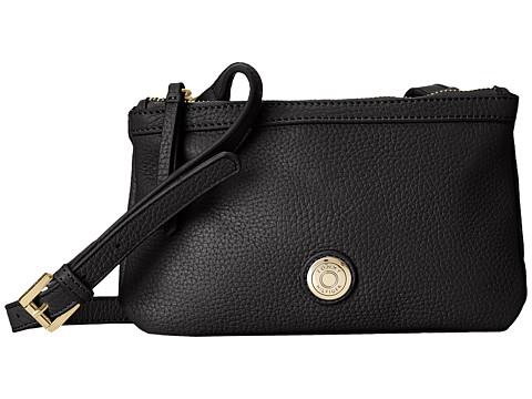 Tommy Hilfiger - Jane-Double Top Zip (Black) Handbags