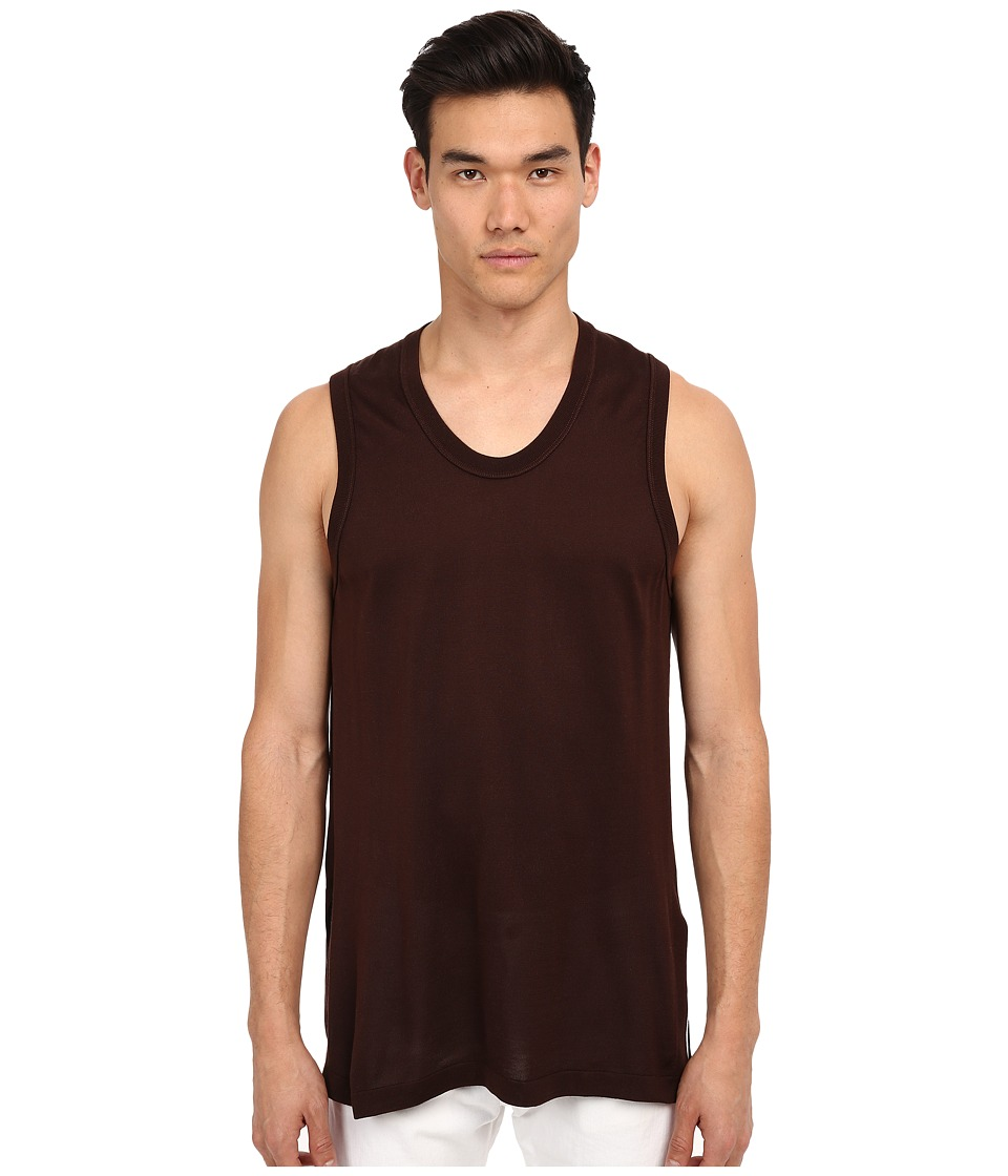 Marc Jacobs - Ringer Tank Top (Brown) Men's Sleeveless