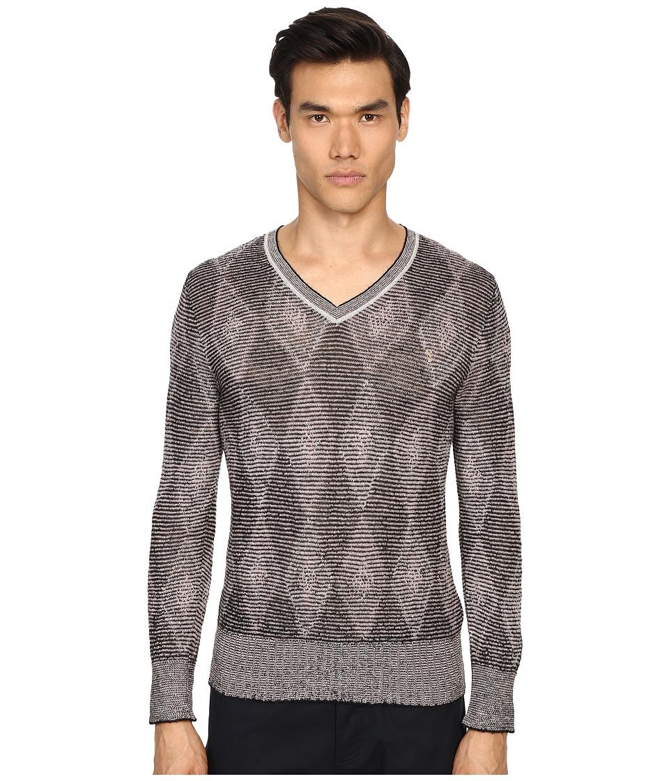 Marc Jacobs - Hazy Diamond Knit Sweater (Pale Pink Combo) Men's Sweater