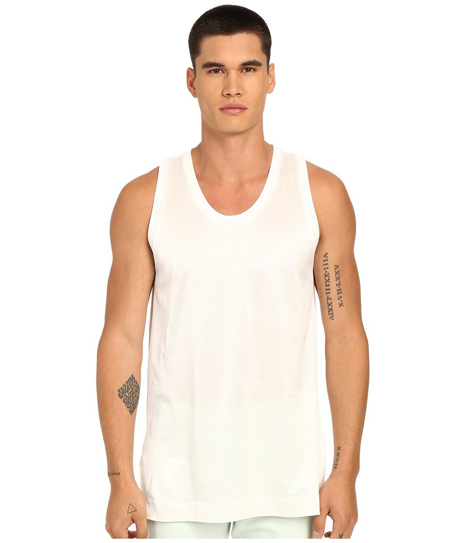 Marc Jacobs - Sunset Oversize Jersey Tank Top (White) Men's Sleeveless