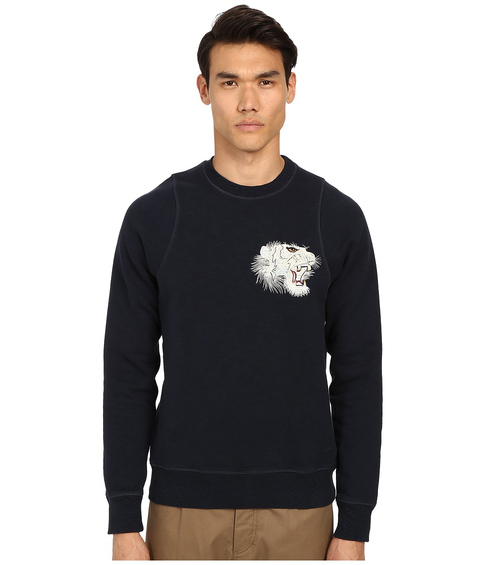 Marc Jacobs - Swirly Chest Graphic Sweatshirt (Navy) Men's Sweatshirt