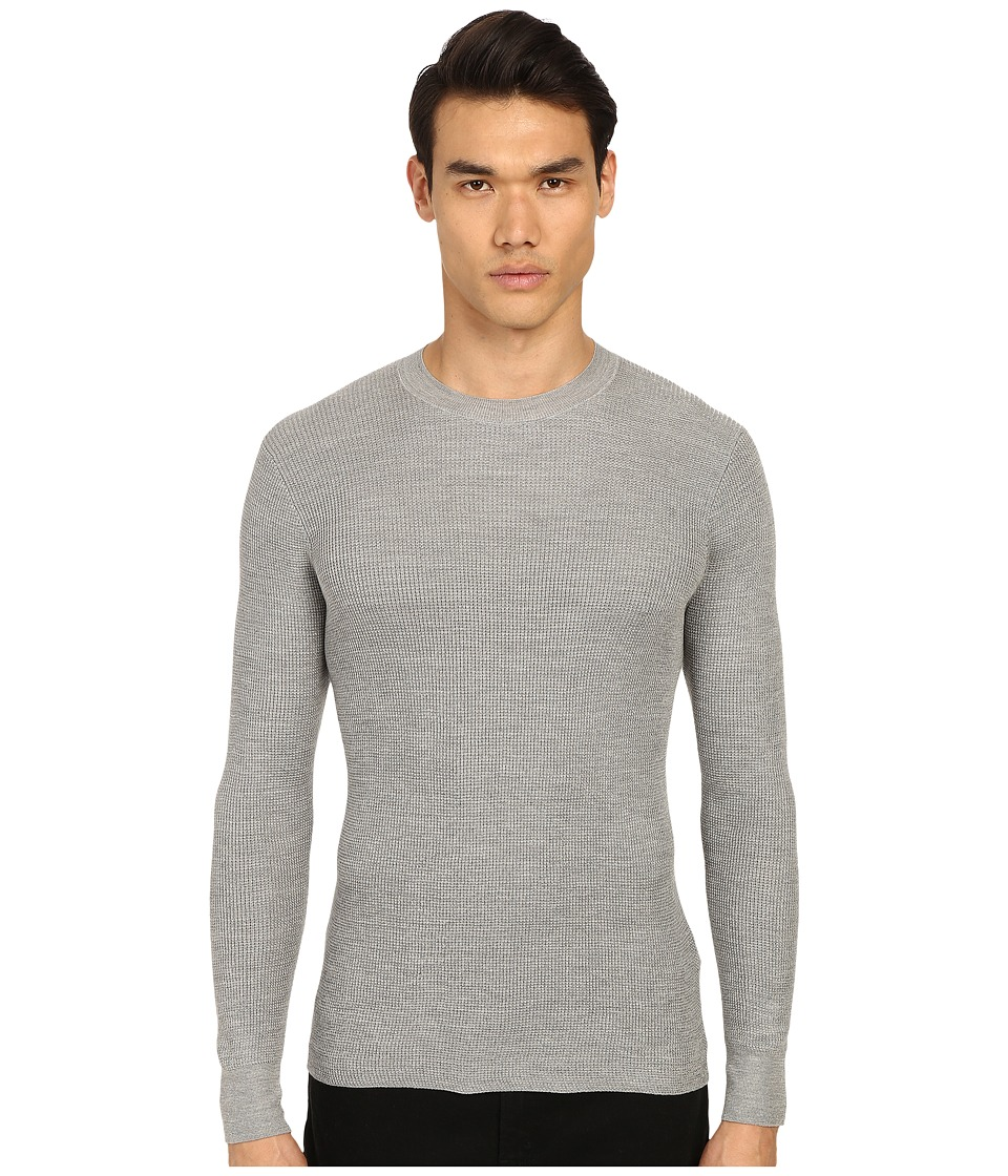 Marc Jacobs - Summer Silk Thermal (Grey Melange) Men's Long Sleeve Pullover