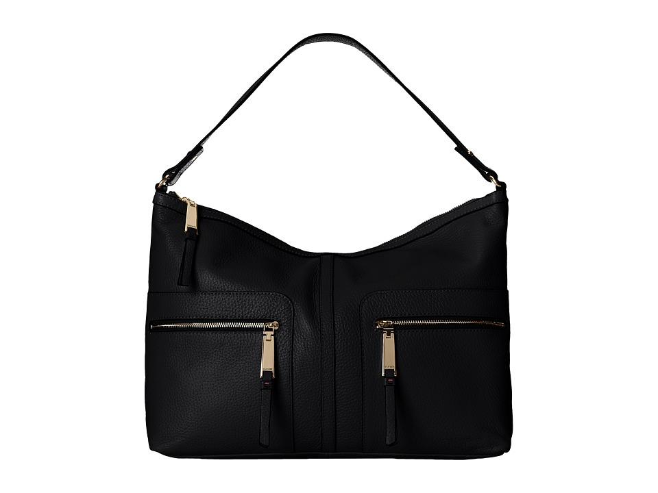 Tommy Hilfiger - Large Hobo (Black) Hobo Handbags