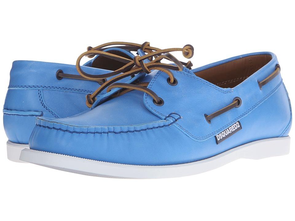 DSQUARED2 - Adrift Boat Shoe (Azure) Men's Shoes